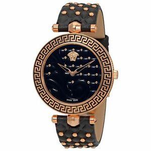 Versace-VK7530017-Women-039-s-VANITAS-Gold-Tone-Quartz-Watch
