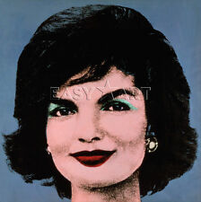Jackie, 1964 (on blue) by Andy Warhol Art Print Poster  Jacqueline Kennedy 11x14