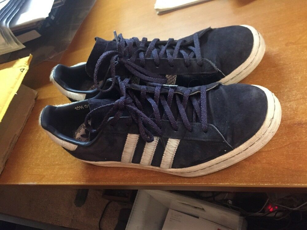 ADIDAS Campus 80s Horsehair Snakeskin Stripes G97269 Mens 10.5 Blue Leather The latest discount shoes for men and women