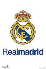 Real Madrid CF La Liga Soccer Official TEAM CREST LOGO Football WALL POSTER