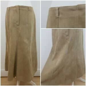 M-amp-S-Long-Length-Thick-Beige-A-Line-Suede-Feel-Midi-Skirt-Spring-Summer-16