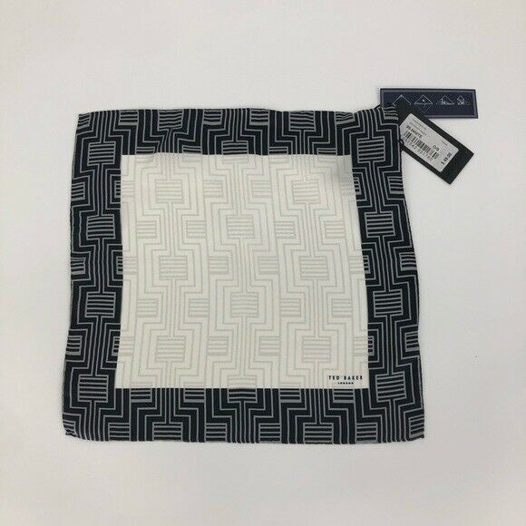 NWT Ted Baker London Geo Silk Pocket Square