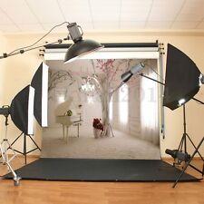 100% Cotton 10x10ft Vinyl White Piano Room Backdrop Photography Photo Background