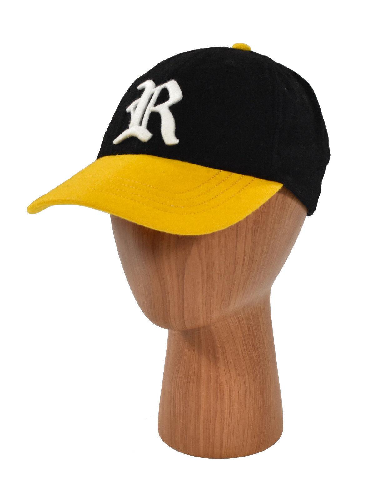 Polo Ralph Varsity Lauren Rugby Black Wool Varsity Ralph Baseball Hat Cap S New db6ac7