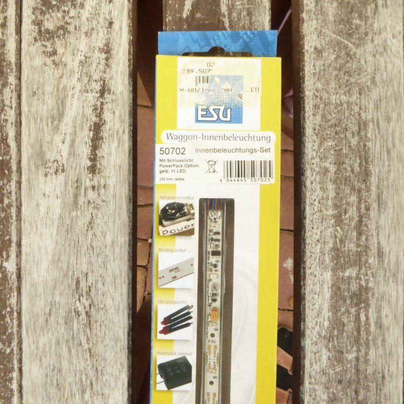 Esu 50702 Tt, N, H0 Set-De Iluminación Interna con Luz Trasera, 255mm, 11 LED,