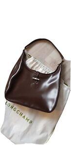 Détails sur Sac cuir porte epaule Longchamp Roseau