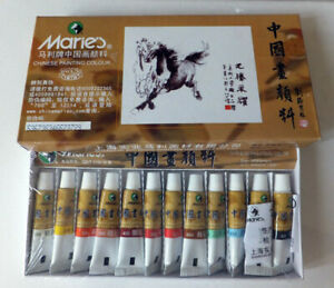 Chinese Painting Colour pack, 12 colour in 5ml tubes