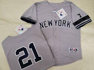 1304 Mens 1995 Majestic New York Yankees PAUL O'NEILL Sewn Baseball JERSEY GRAY
