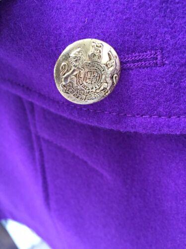 de laine Cape en double vibrant J Crew mélange à Pourpre boutonnage TJ5cuFK13l