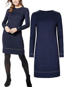 Marks-Spencer-vestido-mas-tamano-14-16-18-20-22-24-Azul-Oscuro-Estilo-manchado-Shift