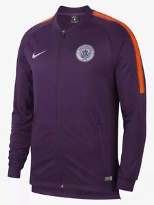 Dettagli su Manchester City Nike Dry Squad knit Giacca Allenamento Training Jacket Viola