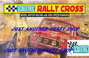 Scalextric-Mini-Cooper-Rally-Cross-A3-Size-Poster-Advert-Leaflet-Shop-Sign
