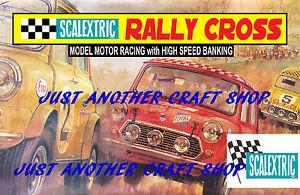 Scalextric-Mini-Cooper-Rally-Cross-A3-tamano-poster-ANUNCIO-FOLLETO-signo-de-tienda