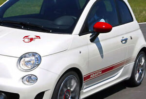 Fiat 500 Abarth decal set - with FREE Scorpion bonnet decal | eBay