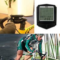 Wireless Heart Rate LCD Bike Computer Odometer Speedometer Cycle Bicycle Set EA