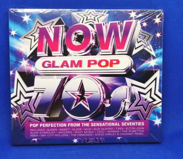 Various Artists : NOW 70s Glam Pop CD Box Set 4 discs (2021)