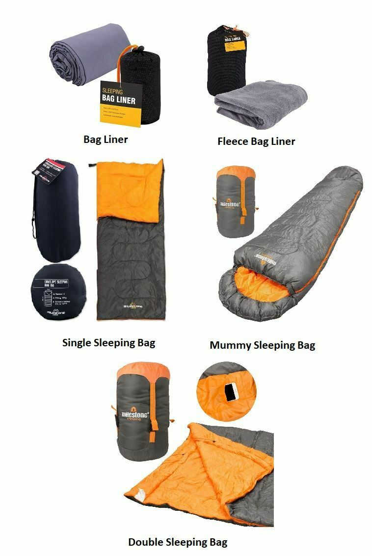 WATERPROOF SLEEPING BAG SINGLE DOUBLE MUMMY CAMPING HIKING OUTDOOR LINER NEW