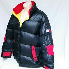 VTG Tommy Hilfiger Ski Coat Down Bubble 90s Jacket Spell Out Colorblock XXL 2XL