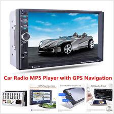 "7"" HD 2 Din In-dash Car GPS Navigation Bluetooth Stereo MP3 MP5 Player FM Radio"