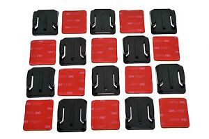 10x Curved Base 3M Adhesive Pad Helmet Mount Kit for GoPro 6 7 8 9