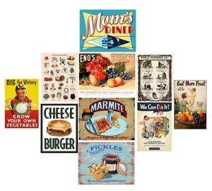 Charmant Image Is Loading Retro Metal Tin Signs Vegatable Fruits Vintage Plate