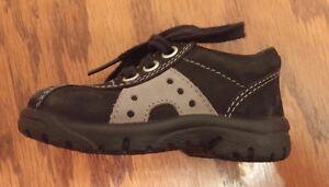 Elefanten infant boys black suede lace up oxford shoes ...