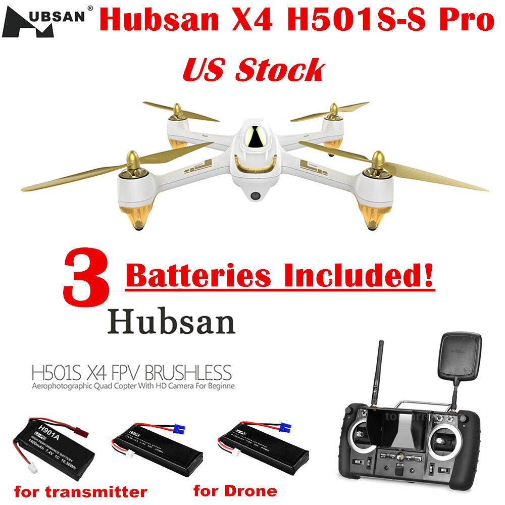 Hubsan H501S Pro vista en primera persona Cuadricóptero siga ME rth 1080P Cámara sin escobillas Drone con GPS