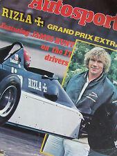 AUTOSPORT MAGAZINE 1981 SUPPLEMENT RIZZLA + GRAND PRIX EXTRA JAMES HUNT ON F1