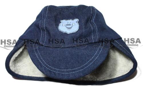 Garçons Denim chapeau bébé hiver bleu Sherpa cadeau d/'anniversaire 12-24 Mois NOUVEAU
