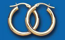 Hoop Earrings Yellow Gold Creole Fancy Hoops Hallmarked