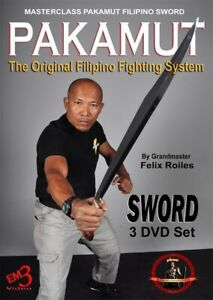 Details about 3 DVD Set Pakamut Filipino Martial Arts Sword Fighting System  Felix Roiles kali