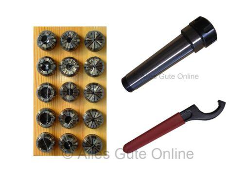 ER25Satz 15Stck Spannzangenfutter MK4 ER25 Schlüssel H HL