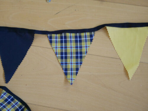 3 metres CORNISH TARTAN BUNTING extra long cornwall kernow flags hand made