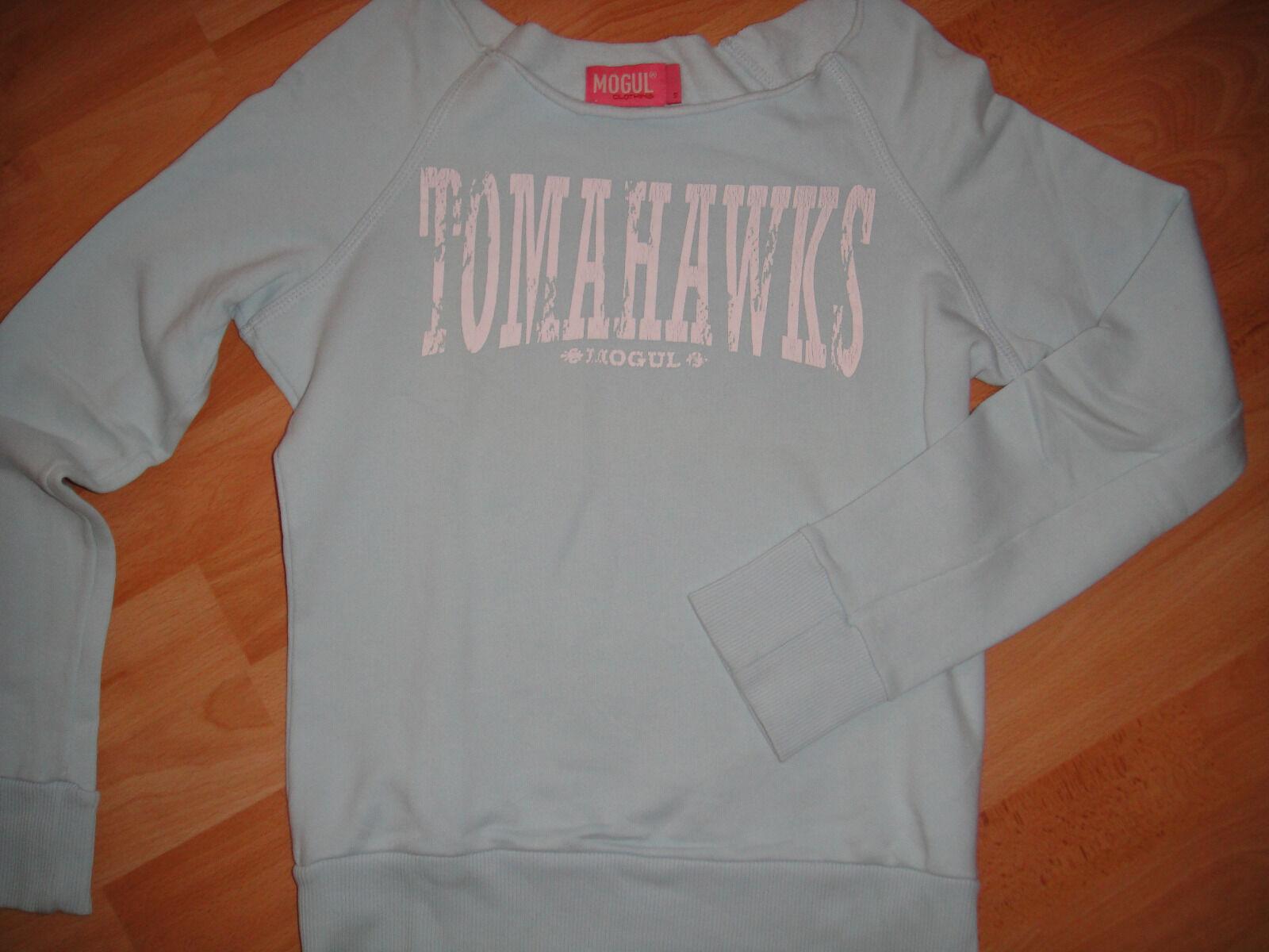 Mogul 💖 Damen Sweatshirt Pullover ♡ kurz 💖 Gr. S ♡ hellblau 💜 Top Zustand ♡