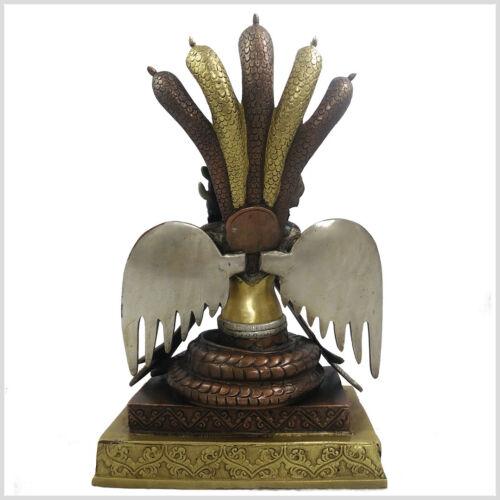 Naga Kanya 32cm 6 KG Messing Nepal Buddha Nag Kanya Kanja Schlangengöttin Kobra