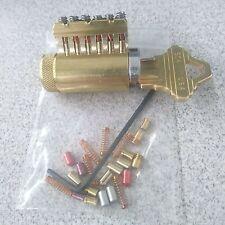 Rekeyable Cutaway Lock Cylinder 6 Pin Schlage Keyway With Spool Serrated Pins