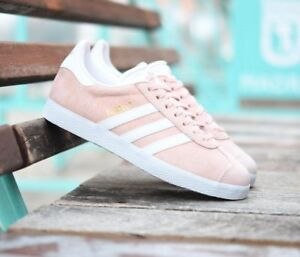 Details about Adidas Gazelle Salmon Light Pink White GOLD Trainers Shoes Sneakers BB5472 Men 9