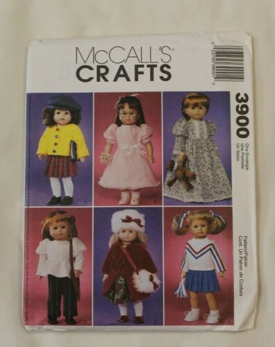 """6 cute outfits UNCUT NEW McCall/'s 3900 American Girl 18/"""" doll clothes pattern"""
