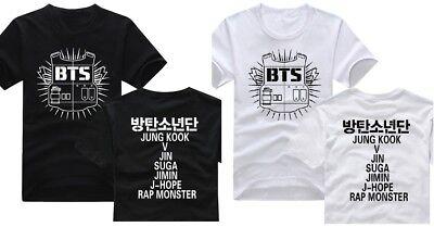 KPOP BTS Members Name Printed Bangtan T-Shirt JIN SUGA RM JHOPE JIMIN V  JUNGKOOK | eBay