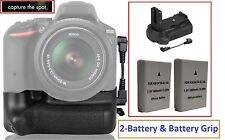 Professional Multi Power Battery Grip & 2-Pc EN-EL14 Battery For Nikon D5500