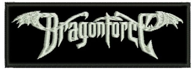 DRAGONFORCE EMBROIDERED PATCH HEAVY PROGRESSIVE POWER SPEED EDGUY Metal Negro