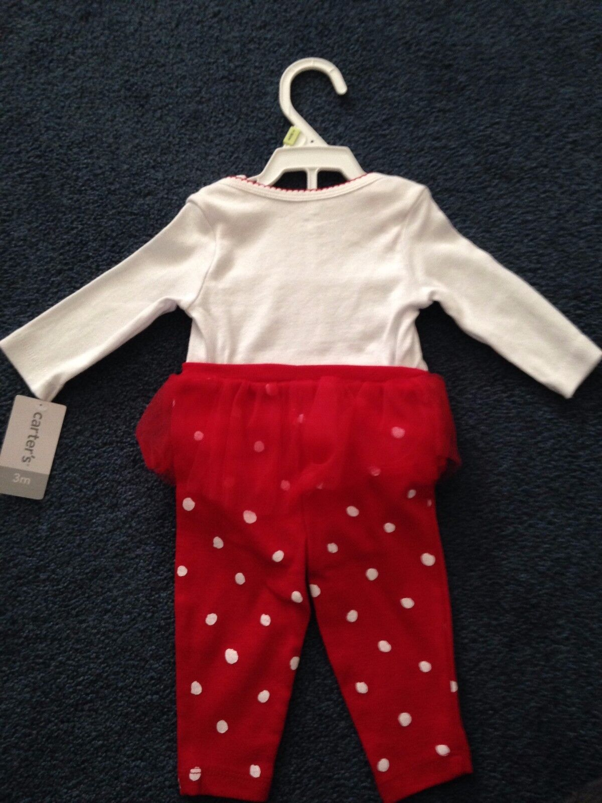 3e0065ff0 Carter s Girls Size 3 Month 2 PC Merry   Bright Christmas Outfit ...
