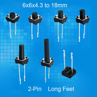 Mini Micro Small PCB Mounted Momentary Tactile Push Button Switch 6*6* 4.3-15mm