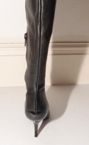 in nera con taglia puntale pelle Joseph Stivali plastica 36 in DH9EIW2