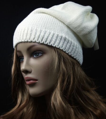 Womens Men/'s Knit Beanie Plain Baggy Hat Solid Ski Warm Casual Light Cap