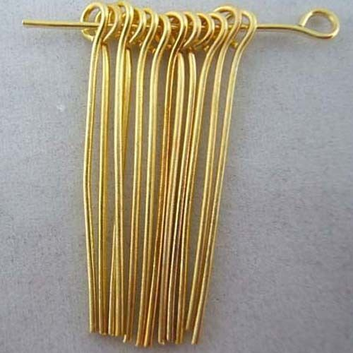 Wholesale Silver Gold Plated Eye Heads Pins Needles Jewelry Findings 6 Sizes
