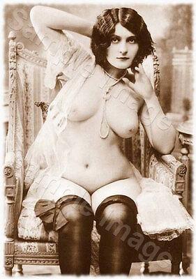 Vintage 139 1920's Erotic Female Nude Sepia Retro PHOTO REPRINT A4 A3 or A2 Size