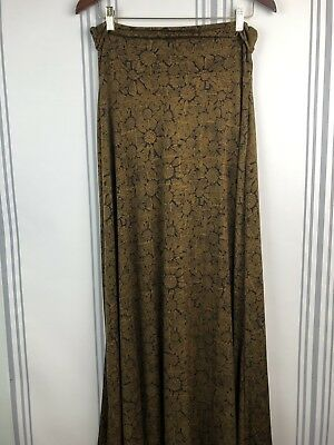 Lularoe Women's Size Small Maxi Skirt Green Yellow Floral Neutrals Stretch Beneficial To Essential Medulla Women's Clothing Clothing, Shoes & Accessories