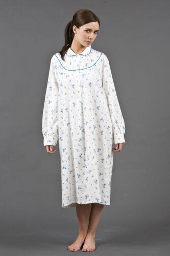 Chemise De Nuit Coton Brossé Pour Femmes Grande Taille 38-54