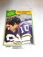 1977 Topps Fran Tarkenton Card # 454 Minnesota Vikings